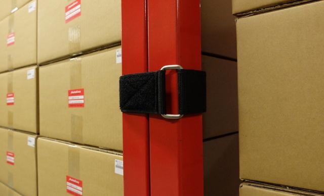 貨物の落下防止措置および転倒防止