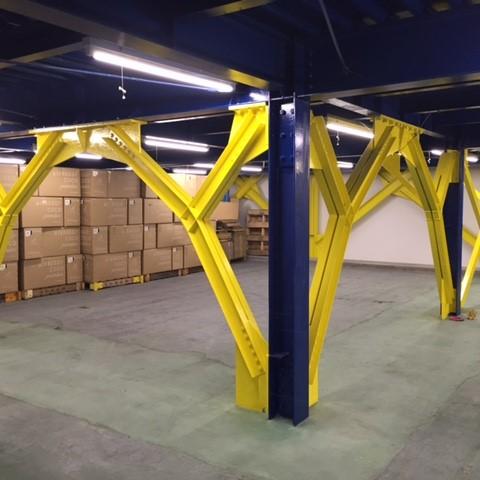B倉庫の耐震補強工事が完了しました