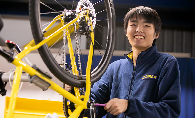 自転車工房の松尾