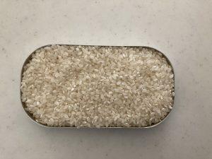 お米を飯盒でたく